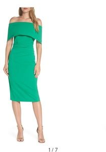 Vince Camuto Green Popover Dress